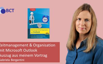 Outlook Zeitmanagement und Organisation Ausschnitt Vortrag
