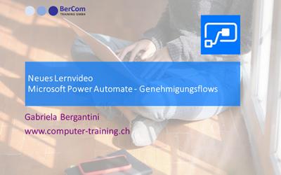 Microsoft Power Automate Genehmigungen – neues Lernvideo