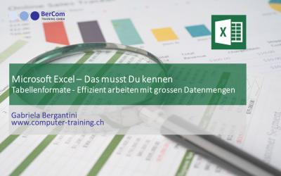 Excel Tabellenformate-grosse Datenmengen auswerten